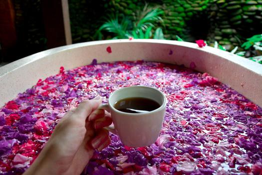 Flower bath à Ubud